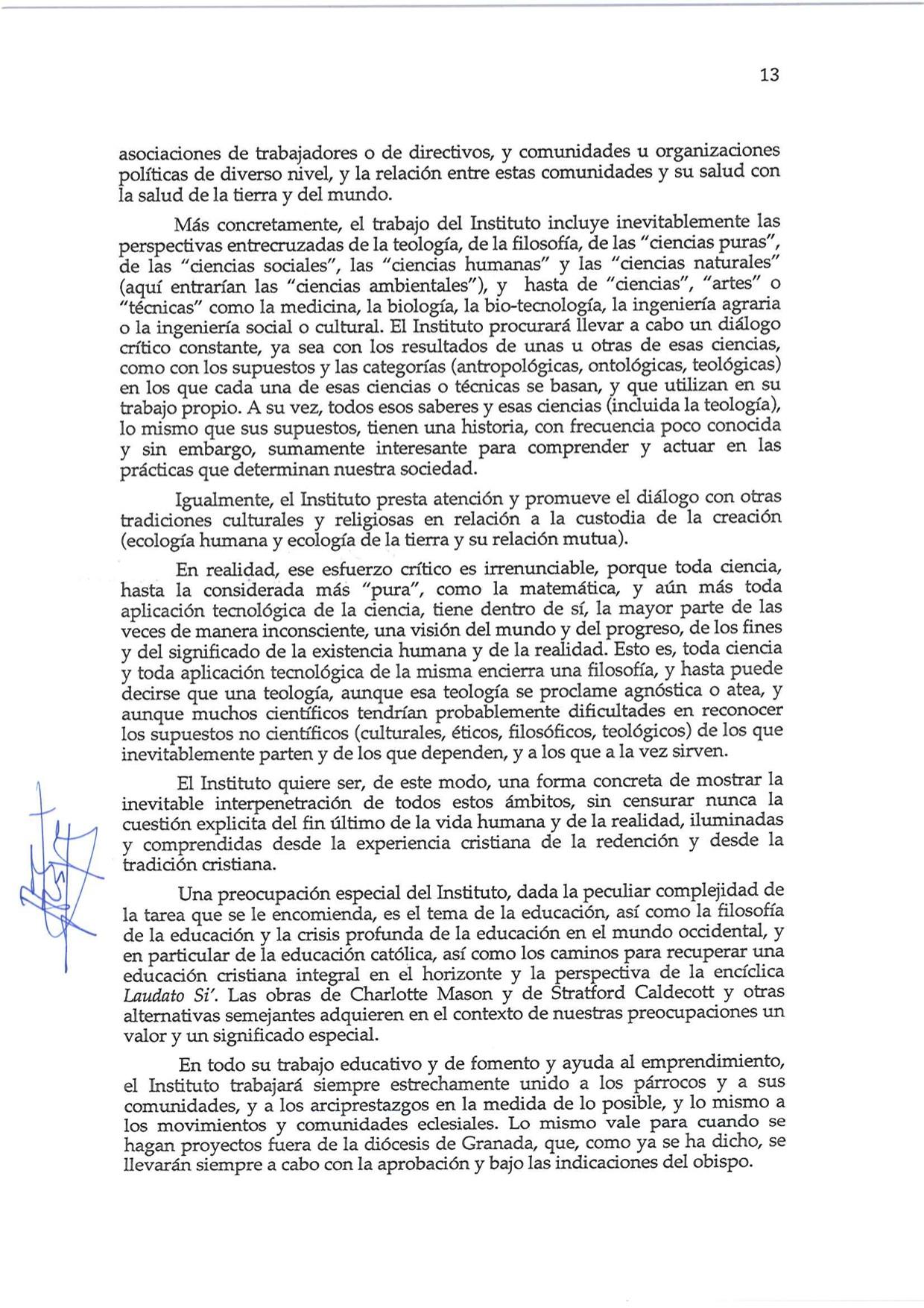 Decreto de Erección _Laudato Si_13