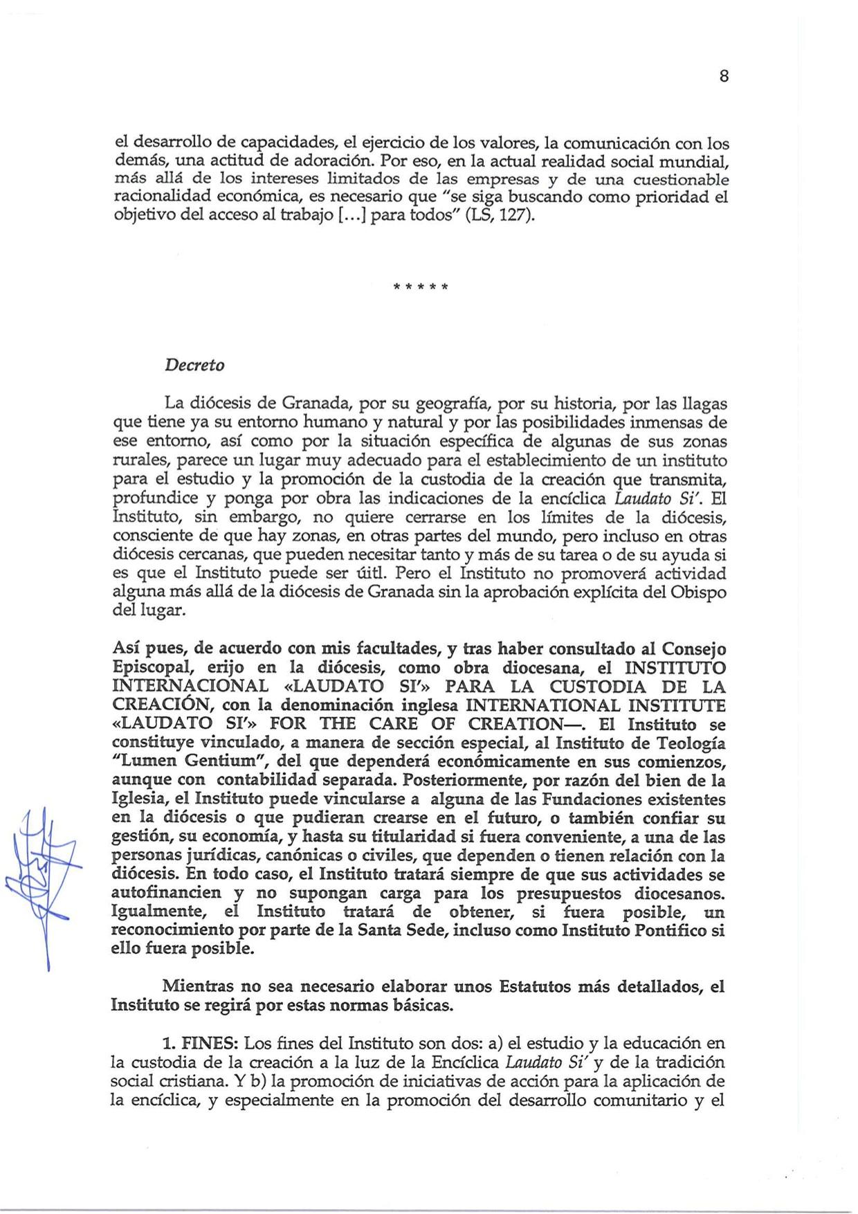 Decreto de Erección _Laudato Si_08