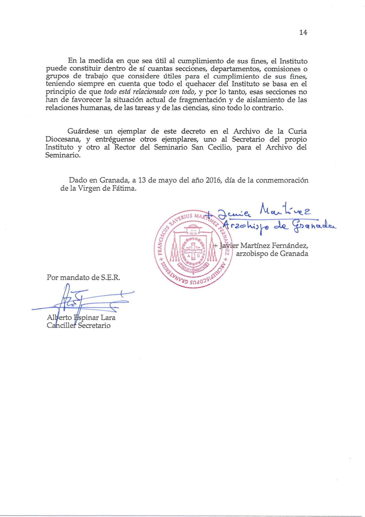 Decreto de Erección _Laudato Si_14